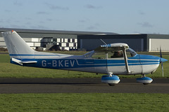 07/01/18 - Reims Cessna F172M - G-BKEV (gbadger1) Tags: reims cessna f 172 m egbw wellesbourne mountford airfield matters january 2018 gbkev