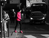 le sport en ville - sport in the city (vieux rêveur) Tags: rue street desaturation noir blanc nb bw black white car voiture sport