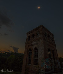 Tiny Totality. (SpencerTheCookePhotography) Tags: building architcture eclipse dilapidated abandoned totality canon