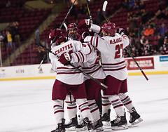 UMass hockey v Northeastern 011918-9 (dailycollegian) Tags: umass amherst hockey university massachusetts mullins center northeastern team celebration win caroline oconnor