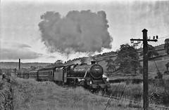 45025 (paul_braybrook) Tags: 45025 lms class5 black5 steamlocomotive kwvr worthvalleyrailway keighley heritage strathspey railway trains blackwhite monochrome