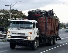 Splendid old Nissan scrap carrier (SemmyTrailer) Tags: nissan ud diesel truck lorry scrap recovery hillcrest hamilton waikato nz