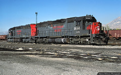 Love the Red Lettering (jamesbelmont) Tags: provo utah emd sd45 railway utahrailway southernpacific helmfinancial lease