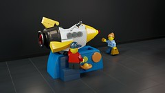 [MOC] To Space and Back for 50 Cents! - Please, Mummy, Please, Please! (Bert.VR) Tags: lego moc bricks rocket space ship kiddie ride kid child coin mother mom sun planets solarsystem attraction rocking mechanism technic momentsinspace contest competition render blender cycles ldd ldraw ldcad cgi