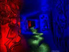 Follow your own path (#Photosplus) Tags: photos plus lightpainting mickey mouse souris kangourou graff graffs tag tags catacombes paris underground sous terre sol night photography photographie light lumière luz nuit noche bleu blue azul red rojo rouge color colors couleur couleurs chaud froid hot cold caliente frío infinitexposure longexposure long exposure lflp dark sombre maxime pateau photoplus