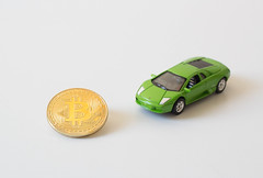 Buy lambo with bitcoin (wuestenigel) Tags: car coins hodl crypto cryptocurrency bitcoin lambo auto vehicle fahrzeug noperson keineperson business geschäft desktop toy spielzeug technology technologie color farbe wheel rad money geld transportationsystem transportsystem glazed glasiert plastic kunststoff power leistung commerce handel symbol industry industrie