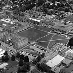 1950s aerial of University Plaza.