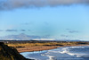 Distant snow on the Cheviots (DavidWF2009) Tags: sea waves beach northumberland cheviots seatonsluice snow