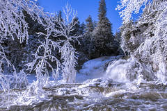 The Jones Falls on the Bruce Trail, Owen Sound, ON, Canada (beth ashley alexander) Tags: falls waterfalls winter wonderland beautiful river water frozen trees ice snow owensound ontario canada canon 6d