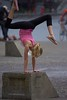 Balanced (swong95765) Tags: kid girl gymnastic balance cute blonde skill coordinated