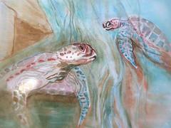 Sea turtles (SandraNestle) Tags: sandranestle wild seascape watercolor art drawings eachdaycounts turtles endangered ancient