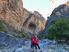 Walking through mini snake canyon.