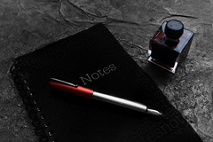 fountain pen and book (-liyen-) Tags: activeassignmentweekly fountainpen ink notebook fujixt2backtoschool bestofweek1 hallengeyouwinner cyunanimous