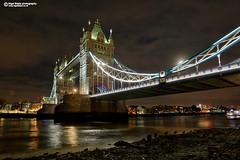 Tower Bridge at night, low tide. (Nigel Blake, 16 MILLION views! Many thanks!) Tags: towerbridge thethames lowtide mud tower bridge london iconic landmark nigelblakephotography nigelblake