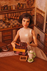Books about chocolate (GreenEyes87)) Tags: miniaturebook book miniature dollhouse miniatures miniaturebooks library doll literarygift dollhouseminiature minibook chocolate coffee chocolatbookseries chocolatseries chocolateshop chocoholic allaboutchocolate polymerclay polymerclaycake cake chocolat joanneharris audreyhepburnbarbiedoll audreyhepburnbarbie audreyhepburn audreyhepburndoll barbie barbiedoll