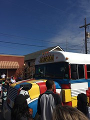 A Mondrian Mardi Gras, NOLA 2018 (kimberlee.marshall) Tags: carnivale carnival annual crowds tourists parades celebration painted schoolbus artist rascals bauhaus fattuesday street mondrian bus mardigras neworleans louisiana 2018