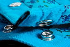 Fastener on a Bumbag (christiane.grosskopf) Tags: macromondays fasteners snapfastener button druckknopf