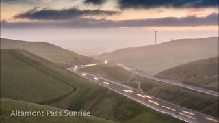 Sunrise at Altamont Pass
