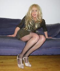 Ready for the weekend! (Irene Nyman) Tags: irenenyman dutch crossdress crossdresser irene nyman tranny tgirl transgirl stilettoes pumps legs blueeyes leather pvc cutie babe blonde xdresser mtf tights pantyhose transvestite cute holland highheels makeup dress minidress couch strappyheels