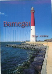 New Jersey - Vertical Barnegat Lighthouse - TO TRADE (bdsuss) Tags: newjersey lighthouse barnegat postcard