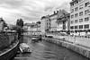 Walking Ljubljana (virtualwayfarer) Tags: slovenian europe city streetphotography streetphotos sonyalpha a7rii historiccity historic architecture urban travel travelphotography slovenia feelslovenia ljubljanicariver ljubljanica