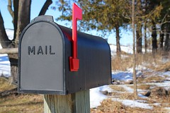 No News, Good News (Haytham M.) Tags: winter march sky blue canada ontario box mail post