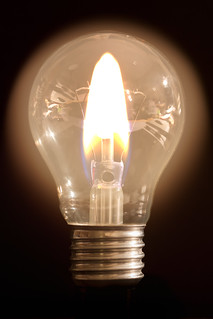 Flame caught in a bulb