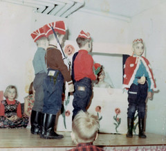 The Military (theirhistory) Tags: boy children kid stage trousers jumper wellies jeans jacket boots class form school pupils students education