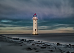New Brighton Lighthouse - Perch Rock (Andrew Brammall Photography) Tags: lighthouse trinity house merseyside mersey estuary misty sea river maritime long exposure 20 stopper perch rock new brighton top20lh sky ocean water