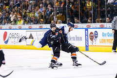 "Kansas City Mavericks vs. Toledo Walleye, January 20, 2018, Silverstein Eye Centers Arena, Independence, Missouri.  Photo: © John Howe / Howe Creative Photography, all rights reserved 2018. • <a style=""font-size:0.8em;"" href=""http://www.flickr.com/photos/134016632@N02/38940755415/"" target=""_blank"">View on Flickr</a>"