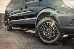 Mercedes Sprinter Van on Black Rhino York Wheels - 6 (tswalloywheels1) Tags: red black rhino truck off road heavy duty alloy wheels wheel rim rims aftermarket mercedes benz sprintervan sprinter 2500 extended matte load rated rating
