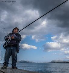 The fisherman (alessandrochiolo) Tags: sicilia street siciliabedda sicily streetphoto sky streetphotografy sea streetphotography sole mare colori cielo colours city pesca pensieri pescatori porticciolo paesaggio
