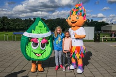 Mascot's Ash & Summer (Transforming Lives Through Sport) Tags: football park sheffield university action ash bramall ceremony disability hallam intellectual lane olympics opening photography sb soccer special sports summer southyorkshire uk gbr