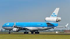 PH-KCB  McDonnell Douglas MD-11 - KLM Royal Dutch Airlines (Peter Beljaards) Tags: aviationphotography jetliner passengerjet schiphol amsterdam md11 klm phkcb mariamontessori threeholer rwy36l polderbaan