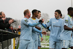 Cray Wanderers 1 Lewes 2 20 01 2018-150.jpg (jamesboyes) Tags: lewes cray bromley football bostik isthmian fa soccer action goal game celebrate celebration sport athlete footballer canon dslr