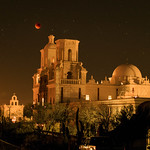 Lunar Eclipse over the San Xavier Mission 2 thumbnail
