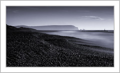 A Monochrome Moment. (muddlemaker1967) Tags: dorset landscape photography hengistbury head beach seascape the isle wight needles longexposure fuji xpro1 nikkor 105mm f25 ais lens fotodiox adapter