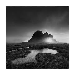 Haytor (Nick green2012) Tags: mist square dartmoor frozen hay tor blackandwhite