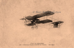 A Voisin de Course pusher biplane in flight [France, 1910-1911] (Kees Kort Collection) Tags: 1911 1912 biplane cellulaire flickr pusher voisin ndphot