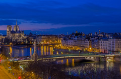 Blue hour in notre dame (Benoit photography) Tags: 2018 beautiful city urban photographer photography photograph images pictures photos fotos bild street lightroom canon 6d photoshop benoitphotography paris water waterflood eau crue notre dame blue hour flood building sky tower night bridge river clock tree dusk architecture vue institut du monde arabe rooftop