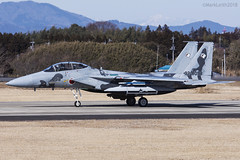 Japan Air Self Defence Force, McDonnell Douglas F-15DJ Eagle, 92-8098. (M. Leith Photography) Tags: mark leith photography japan japanese self air defence force jasdf mcdonnell douglas ibaraki hyakuri sunshine base fighter nikon d7000 d7200 70200vrii 300mmf4 nikkor asia flying military sky building airplane cockpit aircraft jet f15 eagle