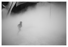 Run in the fog (oiZox) Tags: running run fog arquitecture white euskadi europe travelling travel traveler young urban urbano up image orlandoimperatore ombreeluci observing people photography paisvasco paseo photo pais photographer negro nero light life lux licht luz love libre kids kultur journey joy jumping happy human gente grandeepiccolo guggenheim fotourbana fujifilm foto fotocallejera depthoffield streetphotagraphy street shadow spain silhouette zox zoximage xpro2 city calle callejera citta cityscape vizcaya viaggiare vasco blackwhite bw blanconegro bnw bn mono monochrome