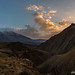 Sunset in the mountains of East Azerbaijan
