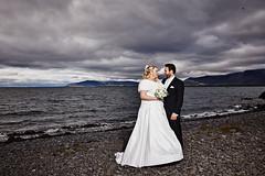 Raggý & Jammi (LalliSig) Tags: wedding photographer iceland reykjavík brúðkaup brúðkaupsljósmyndun portrait portraiture people water ocean beach cloudy