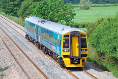 158818. (curly42) Tags: 158818 class158 sprinter railway dmu unit atw arriva transport travel publictransportarriva trains wales