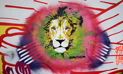 Lion (HBA_JIJO) Tags: streetart urban graffiti pochoir stencil paris animal art france hbajijo wall mur painting aerosol peinture murale lion spray bombing urbain culture