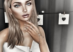 Hanging all his letters on the wall (Angela.Kwak) Tags: ama ysys catwa maitreya doux letre ison secondlife sl avatar blog blogging blogger fashion beauty trunk event whimsical