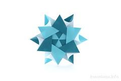Modular Origami Star (ronatka) Tags: modularorigami star origamistar mariasinayskaya square peterkeller ef50mmf18stm valleyfolder