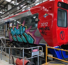 Railcar 3012 in new livery to match the 4000 class! (RS 1990) Tags: railcar 3012 train 3000class new livery red blue adelaide australia