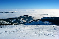 Above clouds... / Nad mraky... (ZdenHer) Tags: snow sky mountains winter zima sníh hory krkonoše